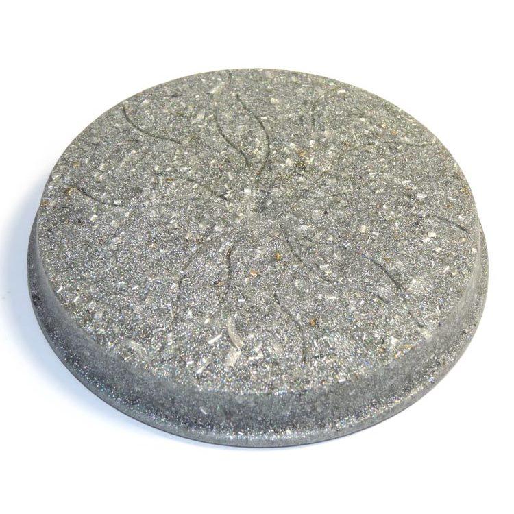 ボヘミアンオルゴナイト シルバーのコースター《オルゴナイト》 12.5×1.5cm 空間がパワースポットになるオルゴナイト スピリチュアルの国チェコの正規輸入品 【ゆうパケット対象】[ヒーリングアイテム/パワーストーン/天然石/癒やしグッズ/ピラミッド]
