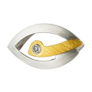 アロマオイル リヒトウェーゼン 黄金と銀のペンダント ジルコン ホルスの目[リヒトウェーゼン/LichtWesen/ドイツ/正規輸入品/ジルコン/ペンダント]
