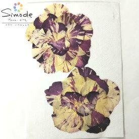 【S-819】押し花 花材バラ(マーブル)組み立て2組(葉なし)レジンアクセサリー、スマホケース、キャンドルなどのハンドメイド・DIY素材として。飛騨のお花屋さんが手作りでつくっています。安全安心の国産品質です。
