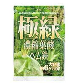 メール便OK 極緑濃縮葉酸ヘム鉄(約6か月分)/サプリメント 美容 健康 ヘルシーライフ