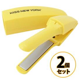 バナナヘアアイロン 2個セット KISS NEW YORK FIM2JP1Y イエロー/美容家電 ヘアケア ヘアエステ ヘアアイロン コテ ストパー ストレートヘアアイロン