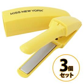 バナナヘアアイロン 3個セット KISS NEW YORK FIM2JP1Y イエロー/美容家電 ヘアケア ヘアエステ ヘアアイロン コテ ストパー ストレートヘアアイロン