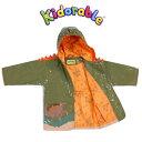 恐竜 インポート 子供レインコート Kidorable(キドラブル)ダイナソー95cm100cm110cm115cm125cm 3歳4歳5歳6歳 フード付 裏地付 …