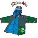 Kidorable(キドラブル)ドラゴンナイトのレインコート 115cm フード付き子供用雨合羽 キッズ レイン カッパ 男児 子供用 通園通学…