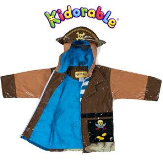 b6eb0680930 (キドラブル) Kidorable pirate raincoat hooded children's coat kids ' rain Kappa  boy children's daycare