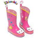 キドラブルKIDORABLE ピンク ネコ長靴 かわいい子供長靴 キッズ 女児 ねこ Kidorable(キドラブル)ラッキーキャ…