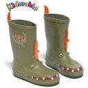 恐竜長靴 中敷き付 子供 キッズ かわいい Kidorable(キドラブル) ダイナソーレインブーツ 14cm 15cm 16cm 17cm 18cm 19cm 20cm …