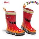 訳ありSALE Kidorable キドラブル消防車のレインブーツ US11:18.5cm子供長靴 B品 ワケアリ 難あり お買い得 値下げ セール 送…