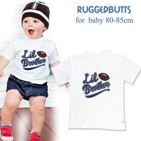 3584cc3decfd4 フットボールTシャツ 白 ベビー RUGGED BUTTS(ラゲッドバッツ)Football アメフト 男児 シャツ 12-