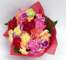 【送料無料!】「ありがとう」感謝の気持ちを伝えよう♪ カーネーション花束 赤ラッピング/花/フラワーギフト/結婚祝い/誕生日/退職祝い/歓迎/送迎/記念日/アレンジメント/還暦/お祝い/母の日/#13