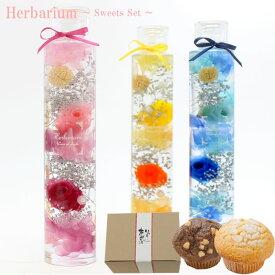 【スウィーツセット】ハーバリウムインテリア/3カラー/ハーバリウムオイル/かわいい/水中花/誕生日/プレゼント/ギフト