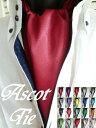 アスコットタイ COLOR☆22色 MADE IN JAPAN●同色で ポケットチーフ とのお買い得2点セットもございます!!ネクタイ …