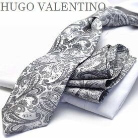 秋物入荷 ポケットチーフ/ネクタイ/HUGO VALENTINO  cpn-h-99 ペイズリー柄
