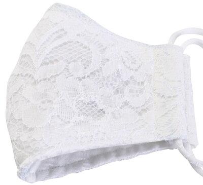 布マスクコットン立体洗える日本製エコおしゃれホワイト白シンプル先端スペースあり呼吸がしやすい立体マスクmas-5-white