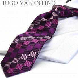 【HUGO VALENTINO】【ネクタイ】TYPE-123/ピンク/ボルド/【Necktie】【12awFashion8_mf】【RCP1209mara】【RCP】