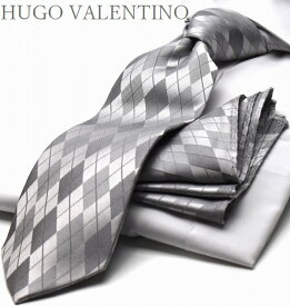 ポケットチーフ/HUGO VALENTINOネクタイ/SET(8cm幅)CPN-HU-13