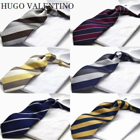 【春物入荷】ブランド ネクタイ 【HUGO VALENTINO】【C1】シルク100%