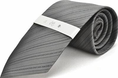 礼装ネクタイ【LA-411】法事用/グレー/フォーマル/ストライプ/ポリエステル05P03Sep16