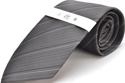 礼装ネクタイ【LA-412】グレー/フォーマル/法事用/ストライプ/ポリエステル05P03Sep16