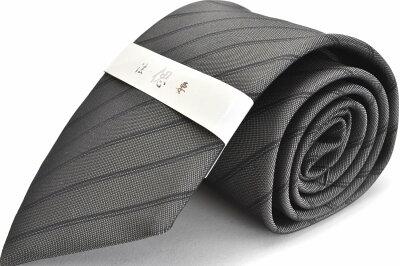 礼装ネクタイ【LA-381】法事用/グレー/フォーマル/ストライプ/ポリエステル05P03Sep16
