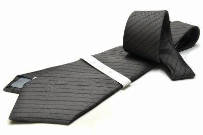 礼装ネクタイ【LA-382】法事用/グレー/フォーマル/ストライプ/ポリエステル05P03Sep16