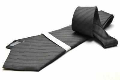 礼装ネクタイ【LA-383】法事用/グレー/フォーマル/ストライプ/ポリエステル05P03Sep16