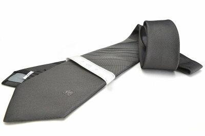 礼装ネクタイ【LA-384】法事用/グレー/フォーマル/ストライプ/ポリエステル05P03Sep16