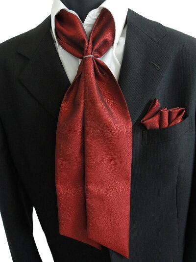 SET-64-Yジャガード織り!【ストール】【ポケットチーフ】【リング】【ボルドラメ入り】3点セットでこの価格!