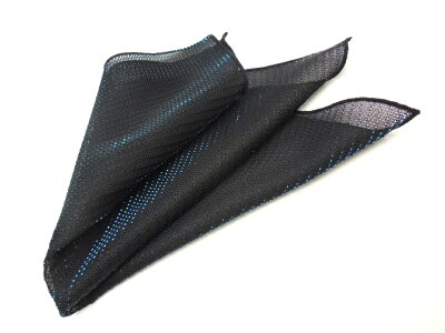【ポケットチーフ】PO−150-Y【ブルーラメ】