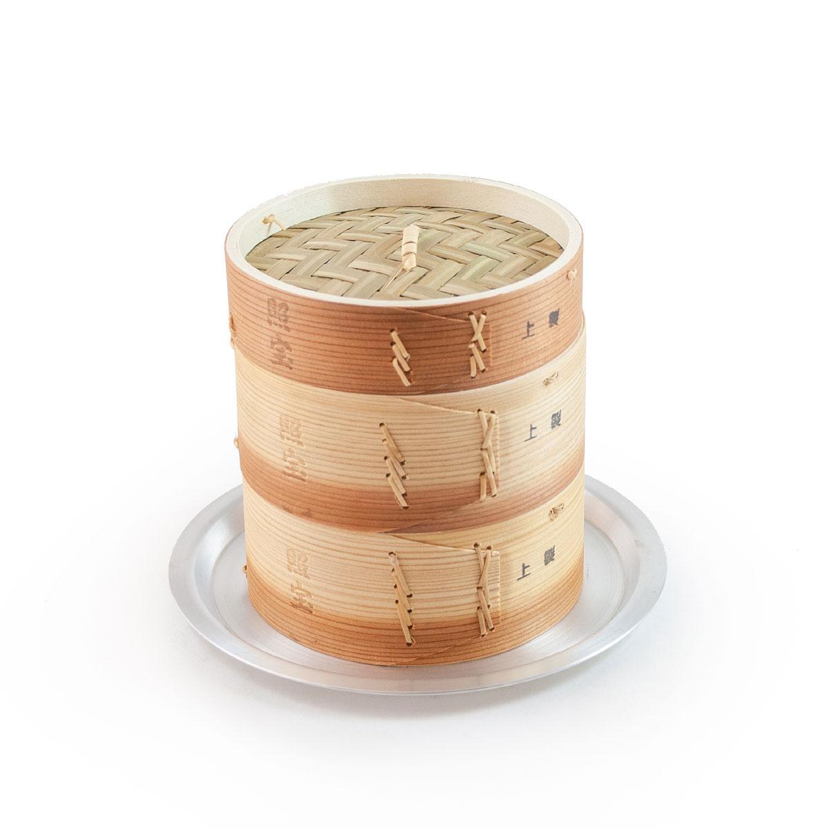 照宝 上製 中華せいろ 杉製 蒸し板セット φ15cm【RCP】【店頭受取対応商品】