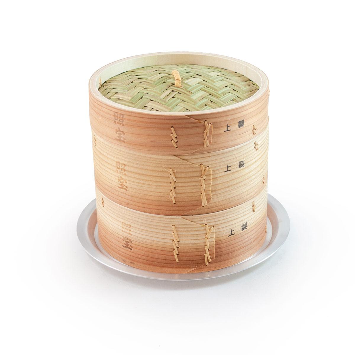 照宝 上製 中華せいろ 杉製 蒸し板セット φ18cm【RCP】【店頭受取対応商品】
