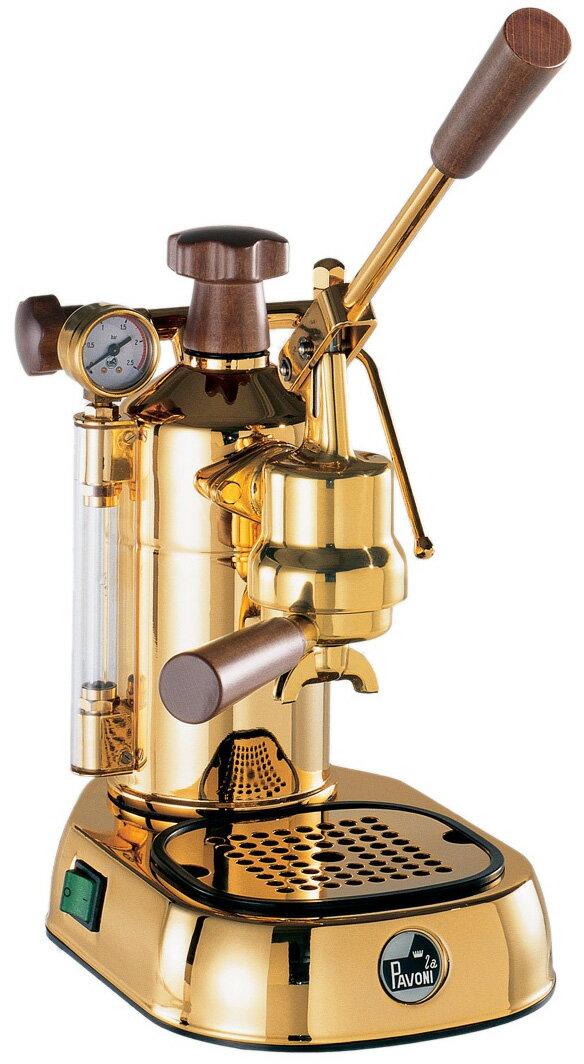 パボーニ社≪Pavoni≫ エスプレッソコーヒーマシンPDH GOLD(18金メッキ)【正規輸入品】【RCP】【店頭受取対応商品】