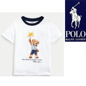 ラルフローレン キッズ Tシャツ 半袖 ベア プリントSparkler Bear