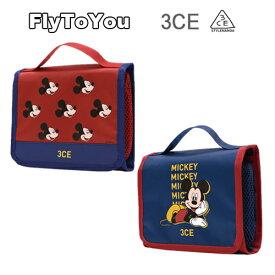NEW 限定版 スタイルナンダ 3CE ミッキーマウス ウォッシュバック スモール メイクポーチ 2色