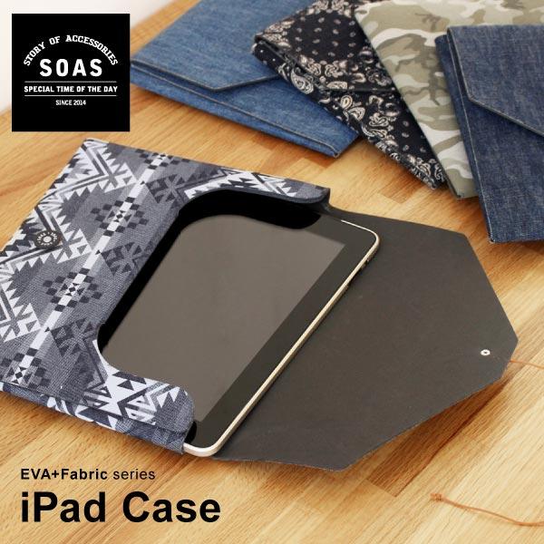 【ポイントバック】【SAOS】iPad タブレット ケース eva 日本製おしゃれ クッション デニム バンダナ 迷彩 ネイティブ クラッチバッグ ipadカバー ipadケース かわいい スクエアケース ギフト プレゼント ラッピング お祝 贈り物 父の日ギフト