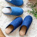 スリッパ 児島デニム 低反発ルームシューズ ピッグスエード 日本製 M L 室内履き ネイビー ブルー クッション性 プレ…