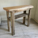 【新商品】【送料無料】【1点モノ】天然木 幅95cm コンソールテーブル ケヤキ無垢 テーブル 飾り棚