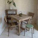 【送料無料】リサイクルウッドカフェテーブル木製テーブル テーブル ダイニングテーブル カフェテーブル 二人掛けテーブル 天然木 無垢 アンティークテーブル アンティーク風