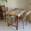 リサイクルウッド ワーキングテーブル 木製テーブル テーブル ダイニングテーブル カフェテーブル 作業台 木製デスク デスク 天然木 無垢 アンティーク風テーブル アンティーク風