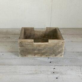 リサイクルウッド・ブロックボックスS木製箱 木製ボックス 木製BOX 収納箱 収納ボックス 収納BOX 収納ケース /ウッドボックス アンティーク風ボックス アンティーク風BOX 無垢