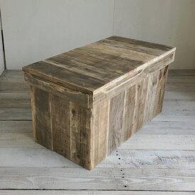 リサイクルウッド ベンチボックス M収納ボックス ベンチ収納 木製ボックス 木製収納 ボックスベンチ 玄関ベンチ