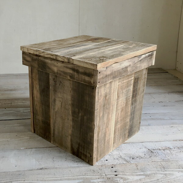【送料無料】リサイクルウッド ベンチボックス S収納ボックス ベンチ収納 木製ボックス 木製収納 ボックスベンチ 玄関ベンチ
