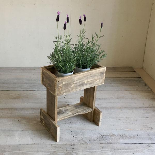 リサイクルウッド フラワースタンド S花台 木製 玄関 ベランダ ガーデン 天然木製 玄関 木製花台 木製フラワースタンド 無垢