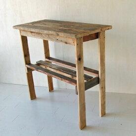 リサイクルウッド コンソールテーブル コンソール 木製テーブル 飾り棚 キャビネット キッチン収納 リビングシェルフ ラック 収納棚 整理棚 天然木 無垢 アンティーク風 テーブル アンティーク風