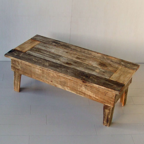 【送料無料】≪リサイクルウッド・玄関スツール≫ 木製 木製テーブル ベンチ 踏み台 天然木 無垢 アンティーク風