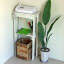 リサイクルウッド・コンソールテーブル ミニ1 ホワイトコンソール 木製テーブル 飾り棚 キャビネット キッチン収納 …