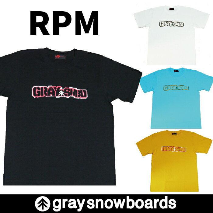 半額 graysnowboards グレイスノーボード RPM Tシャツ 半袖 メンズ レディース アパレル ロゴ GRAY