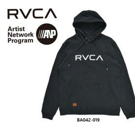 RVCA パーカー フードパーカー 黒 ブラック 長袖 BA042-019 新作 裏フリース ブラック S M L スノーボード メンズ  レディース 日本正規品  送料無料