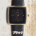 \0のつく日限定 P20倍/\ネコポス 送料無料/ 腕時計 レディース 革ベルト スクエア シンプル ベルト ウォッチ 時計 おしゃれ プチプラ ママ 女性 プレゼント ギフト 祝い 日本製ムーブ ア