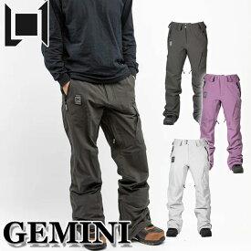 20-21 L1 エルワン ウェア GEMINI PANT ジェミニ パンツ メンズ スノーボード【あす楽対応】